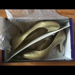 Madden Girl Unifer Gold Sparkly Glitter Heels